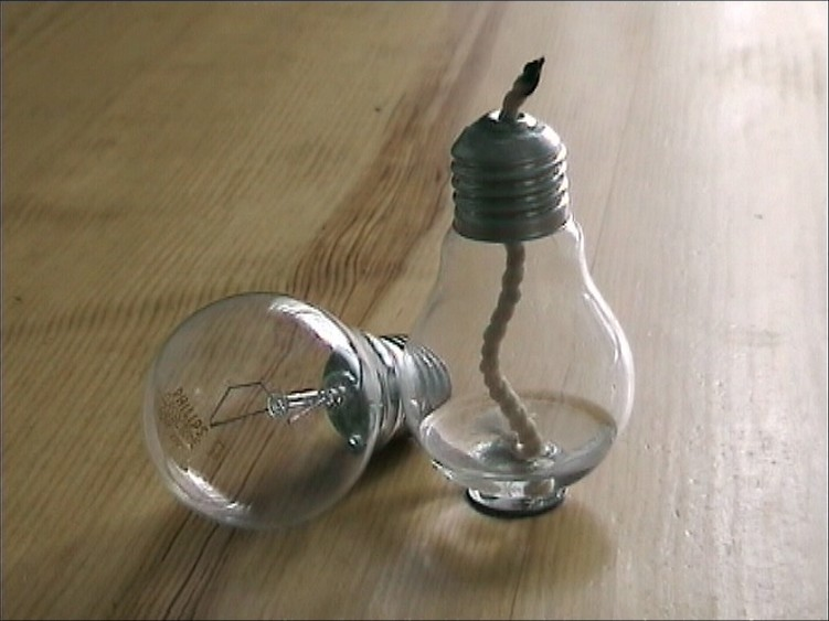 Свеча в лампочке своими руками